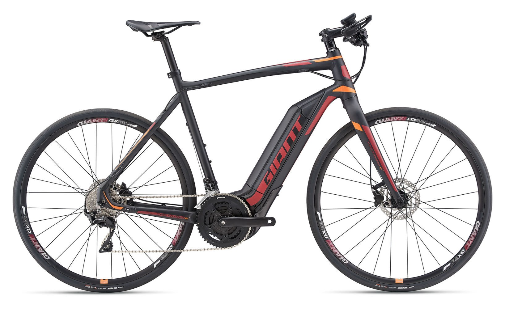 fe91e08a0 Giant FastRoad E+ 1 2019 Road E-Bike Black   Orange £2